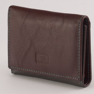 КОД: 413 Дамски портфейл от естествена кожа в цвят кафе/сиво