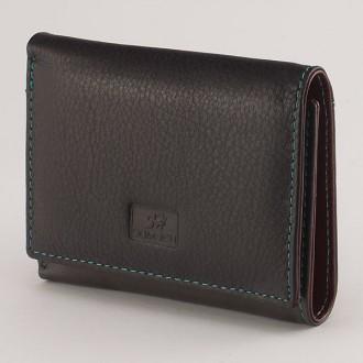 КОД: 413Дамски портфейл от естествена кожа в цвят сиво/кафе