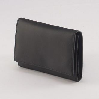 КОД: Z001 Дамски портфейл от естествена кожа в черен цвят