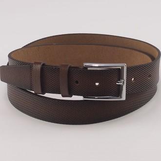 КОД : 0201 Мъжки колан от плътна и висококачествена - телешка естествена кожа 3,5 см в кафяв цвят