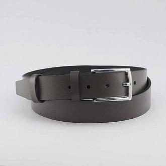 КОД : 0205 Мъжки колан от плътна и висококачествена - телешка естествена кожа 3,5 см в тъмно кафяв цвят