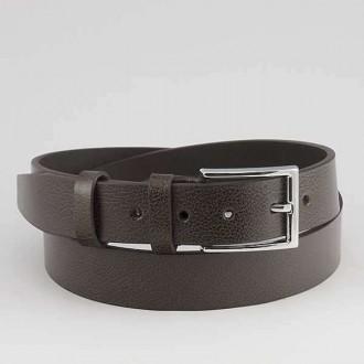 КОД : 0205 Мъжки колан от плътна и висококачествена - телешка естествена кожа 3,5 см в кафяв цвят