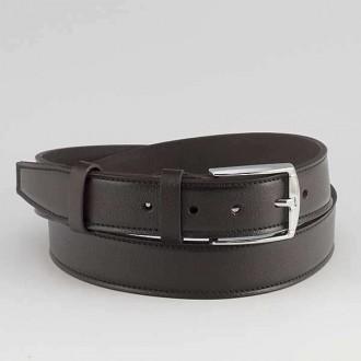 КОД : 0207 Мъжки колан от плътна и висококачествена - телешка естествена кожа 3,5 см в кафяв цвят