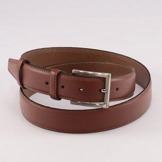 КОД : 0105 Мъжки колан от плътна и висококачествена - телешка естествена кожа 3,5 см в кафяв цвят