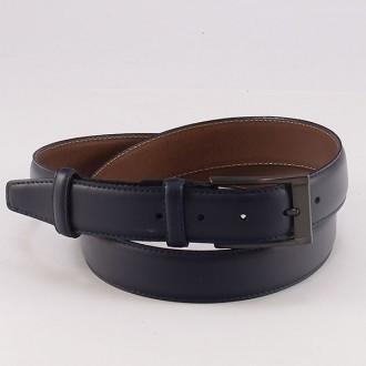 КОД : 0105 Мъжки колан от плътна и висококачествена - телешка естествена кожа 3,5 см в син цвят