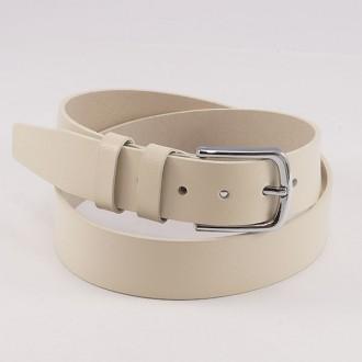 КОД : 0214 Мъжки колан от плътна и висококачествена - телешка естествена кожа 4 см в бежов цвят