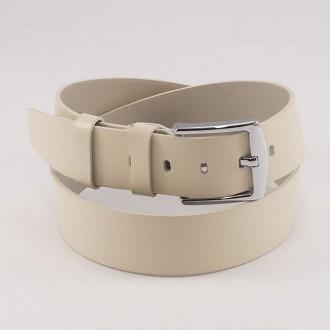 КОД : 0218 Мъжки колан от плътна и висококачествена - телешка естествена кожа 4,5 см в светлобежов цвят