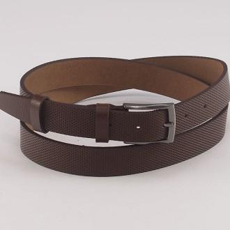 КОД : 0183 Мъжки колан от плътна и висококачествена - телешка естествена кожа 3 см в кафяв цвят