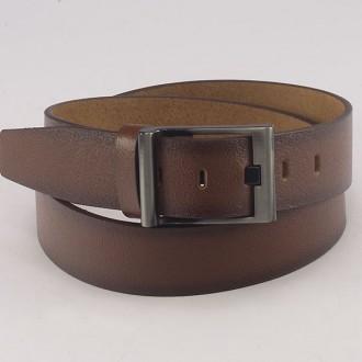 КОД : 0218 Мъжки колан от плътна и висококачествена - телешка естествена кожа 4,5 см в кафяв цвят