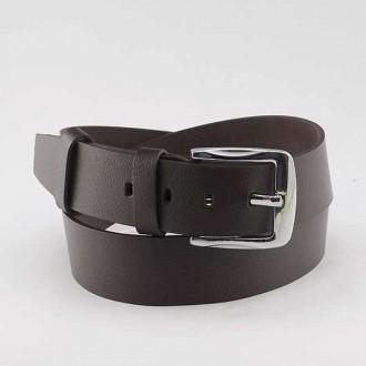 КОД : 0218 Мъжки колан от плътна и висококачествена - телешка естествена кожа 4,5 см в тъмнокафяв цвят