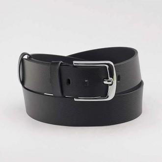 КОД : 0218 Мъжки колан от плътна и висококачествена - телешка естествена кожа 4,5 см в черен цвят