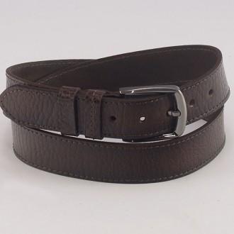 КОД : 0115-2 Мъжки колан от плътна и висококачествена - телешка естествена кожа 4 см в кафяв цвят