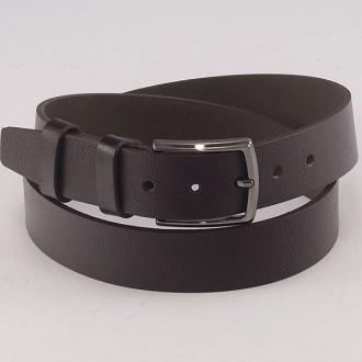 КОД : 0214 Мъжки колан от плътна и висококачествена - телешка естествена кожа 4 см в тъмнокафяв цвят