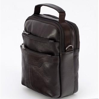 КОД: 8102 Мъжка чанта от естествена кожа в кафяв цвят