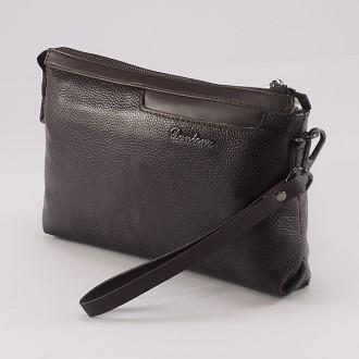 КОД: D1701 Мъжка чанта от естествена кожа в кафяв цвят