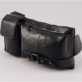 КОД: 3014 Мъжка чанта/паласка от естествена кожа в черен цвят