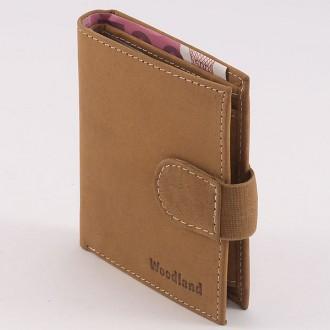 КОД : 0191 Мъжки портфейл от естествена кожа в кафяв цвят WoodLand
