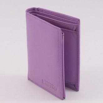 КОД : 0121 Мъжки портфейл от естествена кожа в лилав цвят Rinaldo