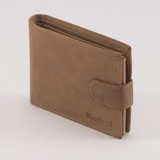 КОД: 0163 Мъжки портфейл от естествена кожа в светлокафяв цвят WoodLand
