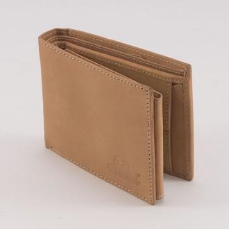 КОД: 0164 Мъжки портфейл от естествена кожа в светлокафяв цвят WoodLand