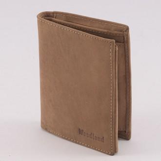 КОД : 0165 Мъжки портфейл от естествена кожа в светлокафяв цвят WoodLand