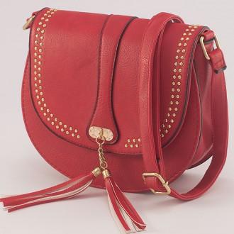 КОД: X904 Малка дамска чанта от плътна и висококачествена еко кожа в червен цвят