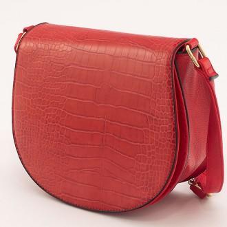 КОД: X908 Малка дамска чанта от плътна и висококачествена еко кожа в червен цвят