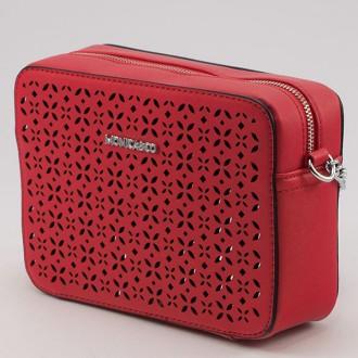 КОД: 80041 Малка дамска чанта от плътна и висококачествена еко кожа в червен цвят