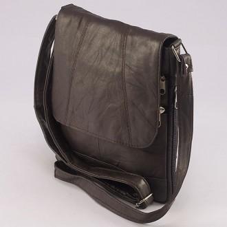 КОД: 0027 Дамска чанта от естествена кожа на парчета в цвят кафе