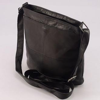 КОД: 0048 Дамска чанта от естествена кожа на парчета в цвят кафе