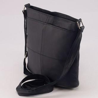 КОД: 0048 Дамска чанта от естествена кожа на парчета в тъмносин цвят