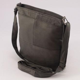 КОД: 0048 Дамска чанта от естествена кожа на парчета в сив цвят