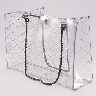 КОД : 6194  Дамска силиконова чанта в син цвят