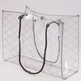 КОД : 6194  Дамска силиконова чанта в черен цвят