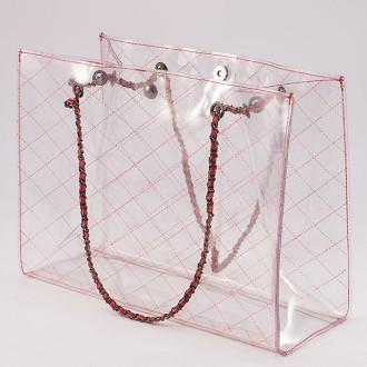КОД : 6194  Дамска силиконова чанта в червен цвят