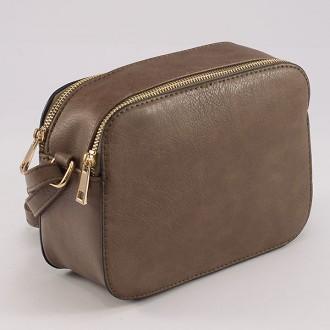 КОД : 8190 Малка дамска чанта от плътна и висококачествена еко кожа в цвят каки
