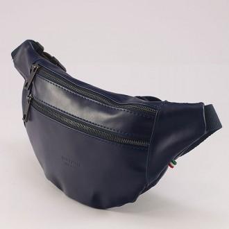 КОД : 0127 Паласка от естествена кожа в син цвят