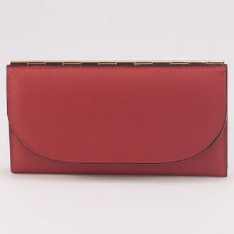 КОД : A121 Дамски портфейл от плътна и висококачествена еко кожа в червен цвят - голям размер