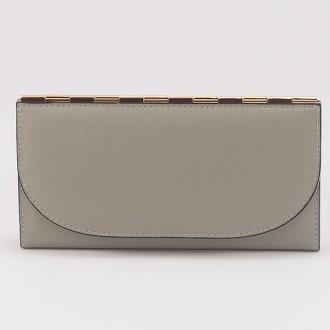 КОД : A121 Дамски портфейл от плътна и висококачествена еко кожа в сив цвят - голям размер