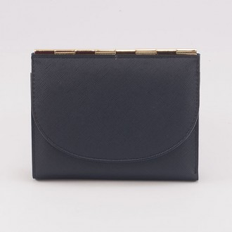 КОД : A122 Дамски портфейл от плътна и висококачествена еко кожа в син цвят