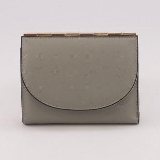 КОД : A122 Дамски портфейл от плътна и висококачествена еко кожа в сив цвят