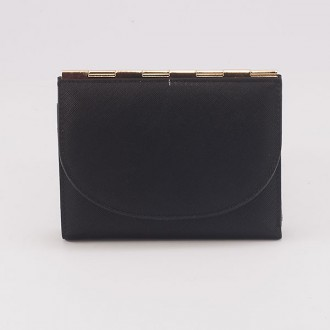 КОД : A122 Дамски портфейл от плътна и висококачествена еко кожа в черен цвят