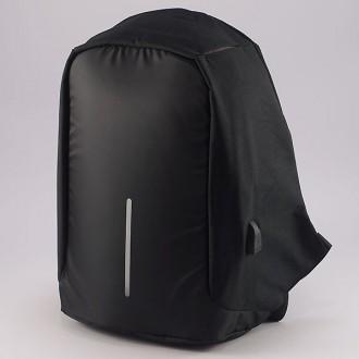 КОД : 1701 Раница от промазан плат в черен цвят