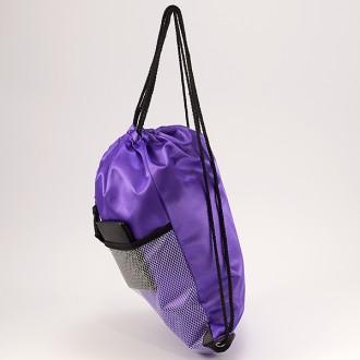 КОД : 0181 Раница тип мешка от текстил в лилав цвят