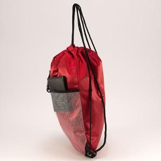 КОД : 0181 Раница тип мешка от текстил в червен цвят