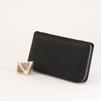 КОД : Y110 Дамски портфейл от плътна и висококачествена еко кожа в черен цвят