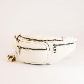 КОД : Z610 Дамска паласка от еко кожа в бял цвят