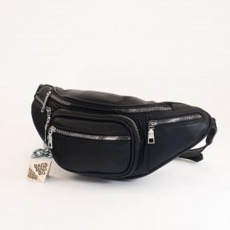 КОД : Z610 Дамска паласка от еко кожа в черен цвят
