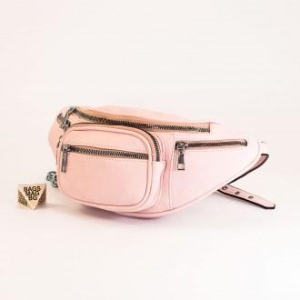 КОД : Z610 Дамска паласка от еко кожа в розов цвят
