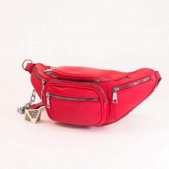 КОД : Z610 Дамска паласка от еко кожа в червен цвят